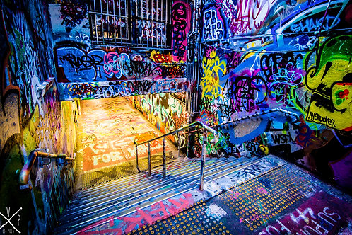 Graffiti Tunnel Signature Series - Canvas Textured A3 Photo Print