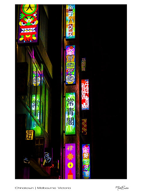 Chinatown Signature Series - Canvas Textured A3 Photo Print