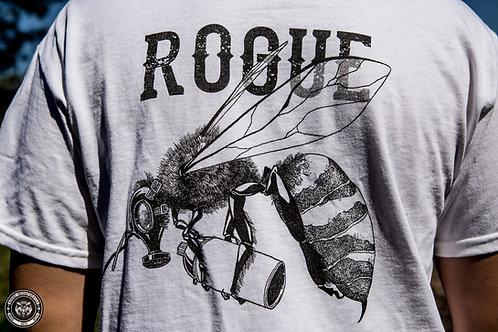"Rogue Inc Apparel - White ""Graffibee"" Gildan Shirt"