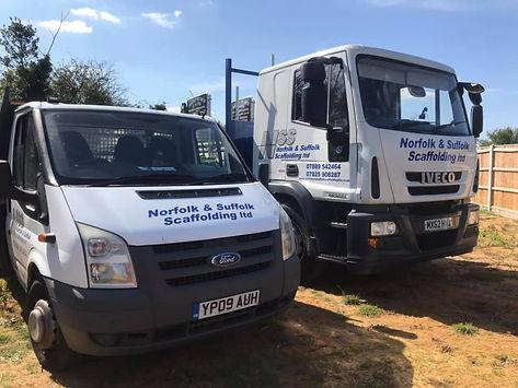 Norfolk & Suffo Scafolding Ltd Fleet of Vehicles