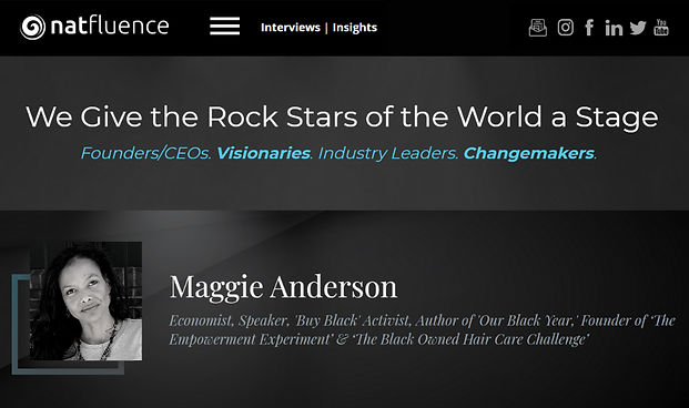 Natfluence Features Maggie Anderson The