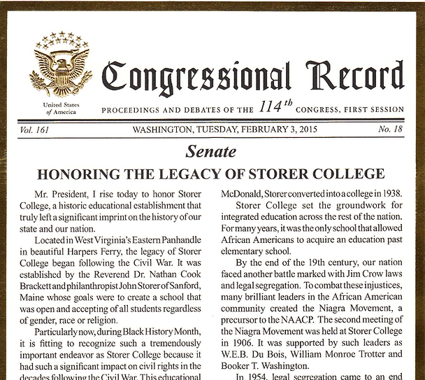 Storer College Proclamation