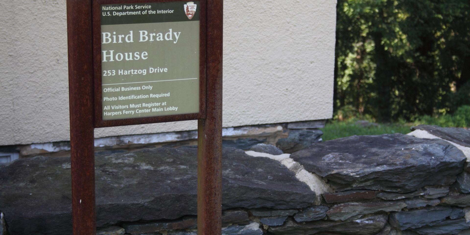 37. Bird Brady House sign   (Photo by G. Maurice Ballard)