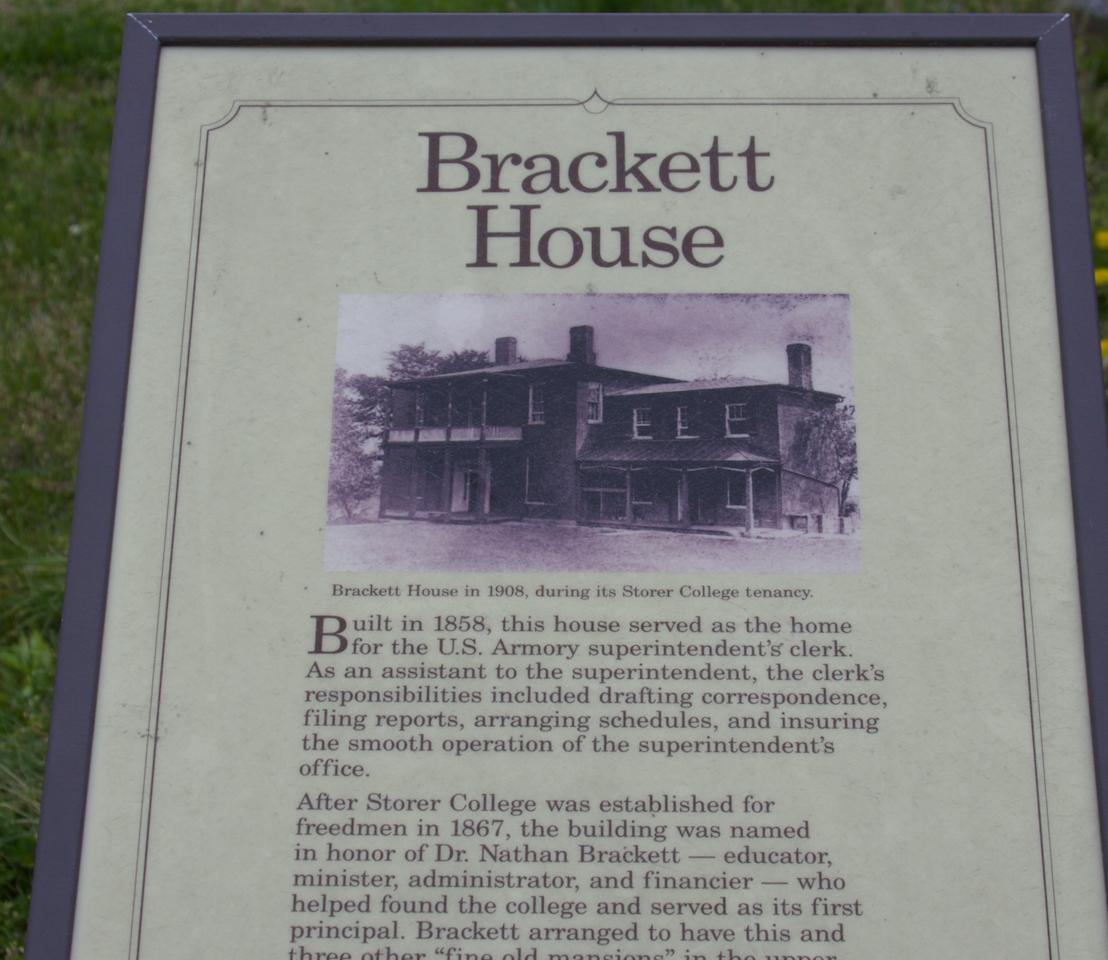 46. Brackett House marker   (Photo by G. Maurice Ballard)