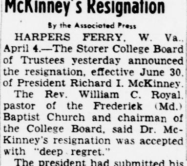 McKinney resignation accepted