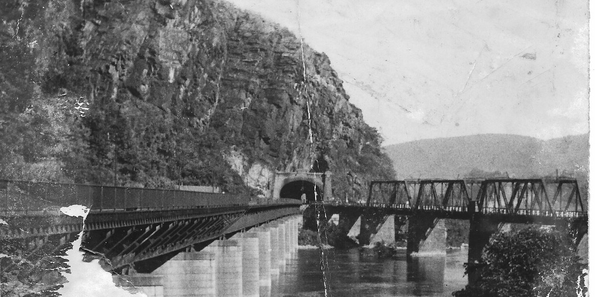 20. Harpers Ferry train tunnel   (Courtesy of Sharon Spriggs and Ann Reeler)