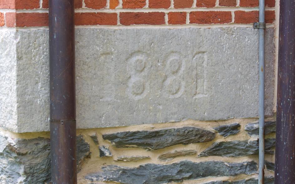 25. Anthony Hall 1881 cornerstone  (Photo by G. Maurice Ballard)