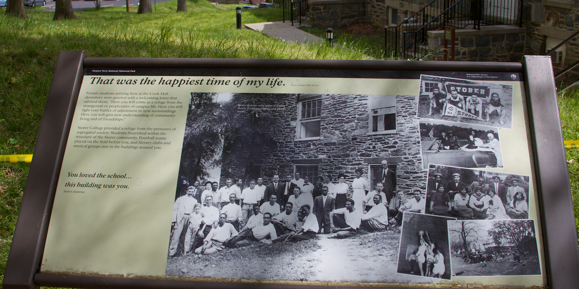 """29. Storer College historical marker, """" That was the happiest time of my life.""""   (Photo by G. Maurice Ballard)"""