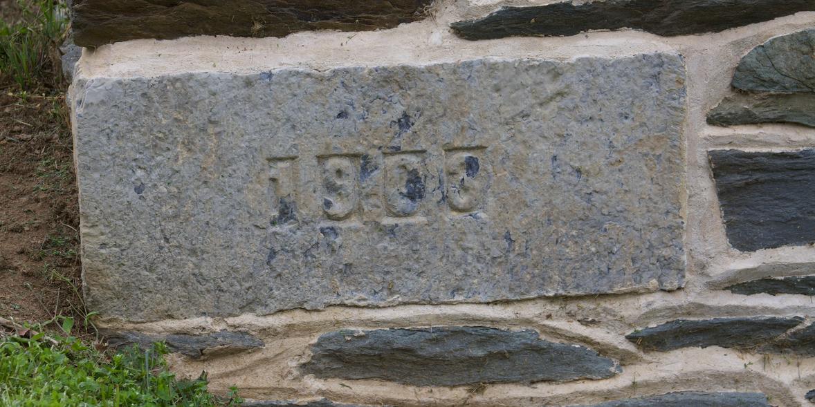 36. Lewis W. Anthony Building 1903 cornerstone  (Photo by G. Maurice Ballard)