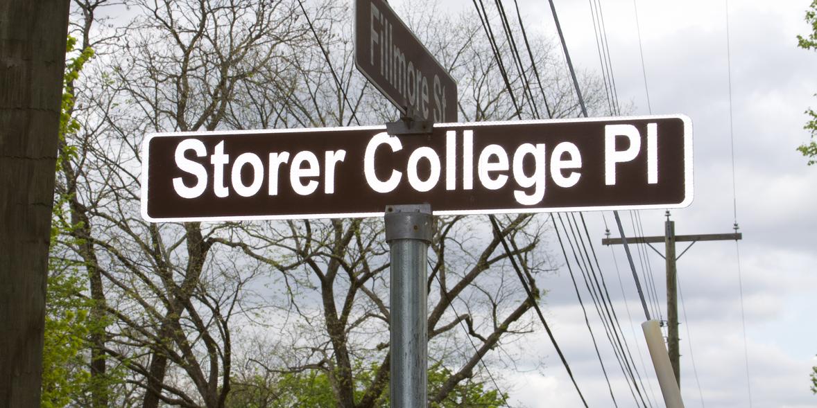 39. Storer College Place/Filmore Street signs  (Photo by G. Maurice Ballard)