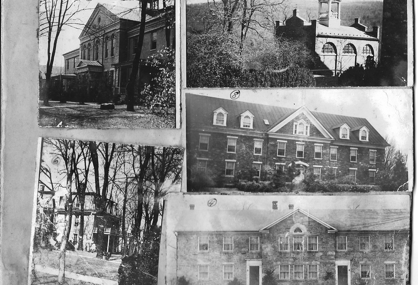 2. Storer College Campus Buildings per Storer College Map      4. Home Economics   (Permelia Eastman Cook Hall)    5. John Brown Fort Museum    6. Mosher Hall    7. Anthony Hall    8. Brackett Hall  (Courtesy of Sharon Spriggs and Ann Reeler)