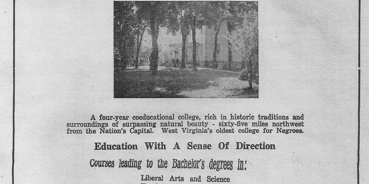8. Storer College Advertisment, Spirit of Jefferson, 1944  (Source: Jefferson County Museum)
