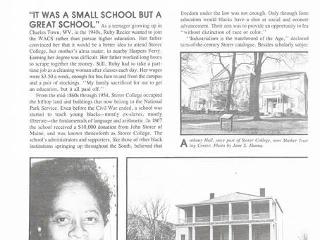 Ruby Reeler   Remembering Storer College