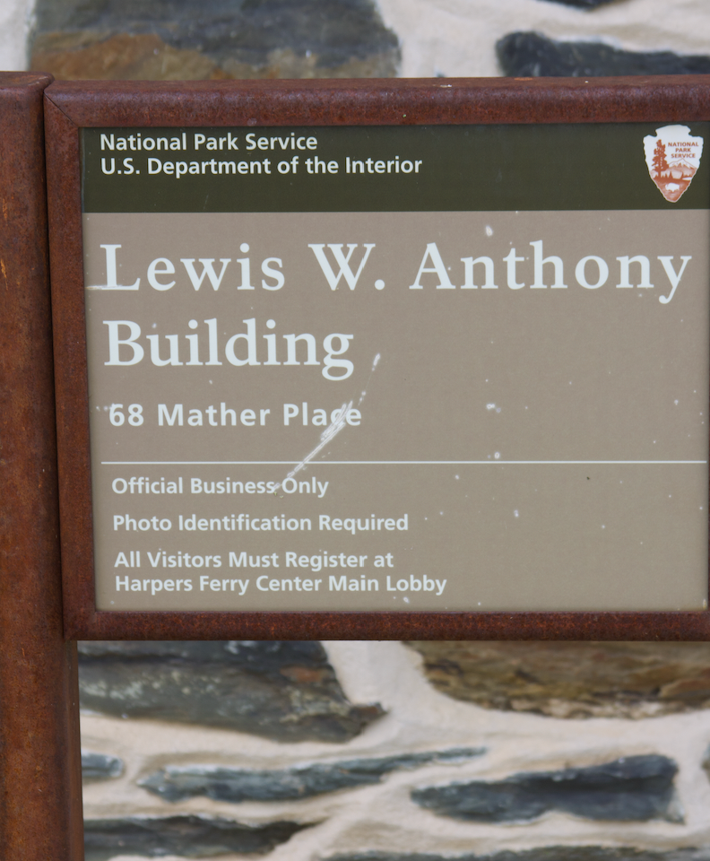 33. Lewis W. Anthony Building sign  (Photo by G. Maurice Ballard)