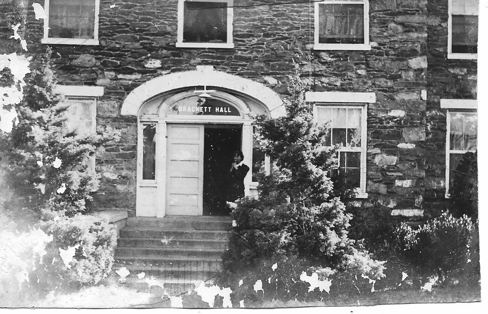 5. Student at Brackett Hall   (Courtesy of Sharon Spriggs and Ann Reeler)