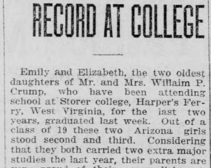 Sisters Make Fine Record At College