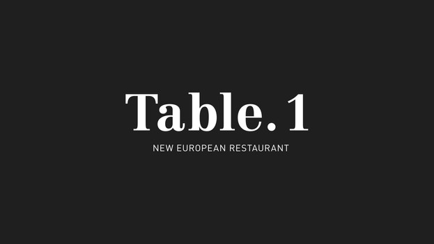 Table.1 - Identity Design