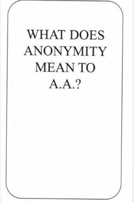 Anonymity Card