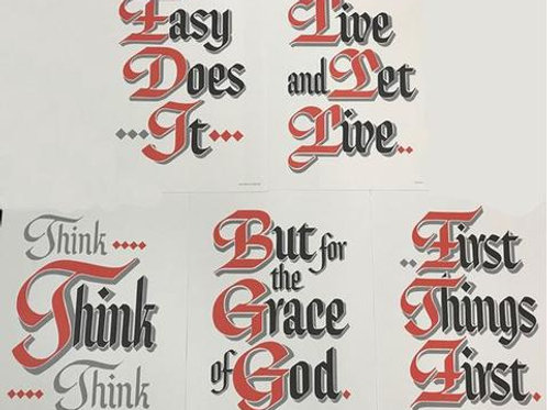 Set of 5 Slogans