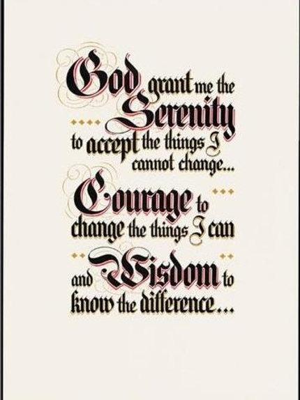 Serenity Prayer For Framing