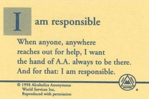 I Am Responsible Card