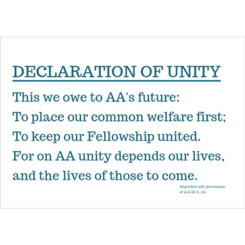 Declaration Of Unity Banner