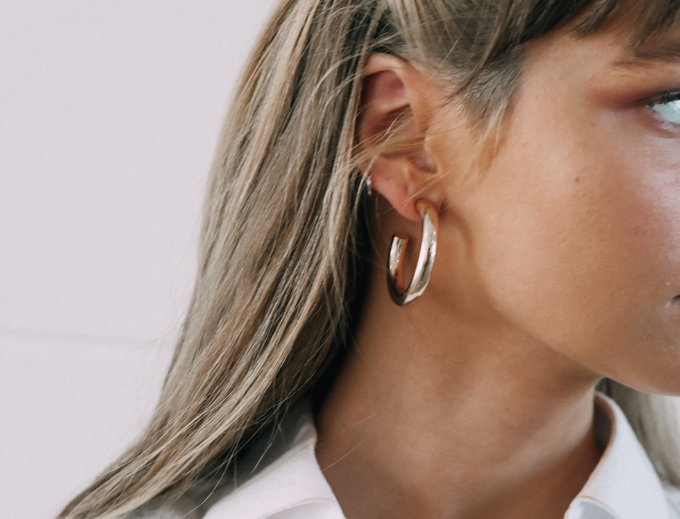 Goody Gold & Silver Hoops
