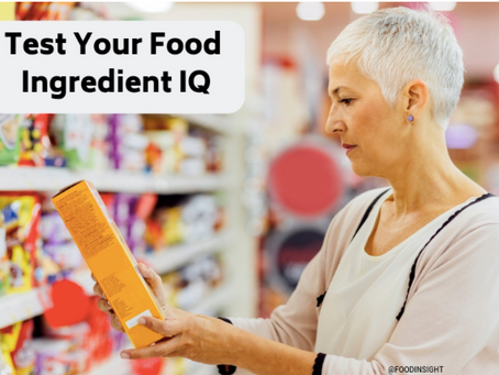 How well do you know your ingredients?