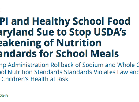 Government sued over weakening nutrition standards for schools