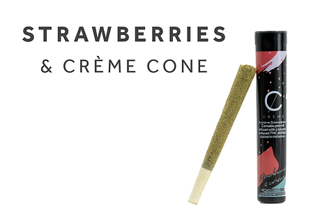 Strawberries & Crème Cone