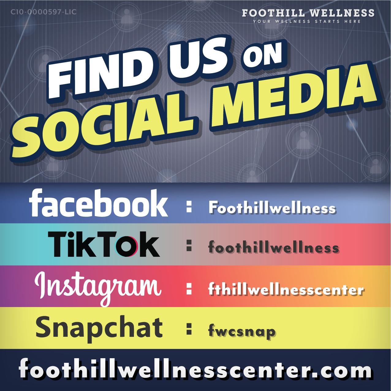 Foothill Social Media Info