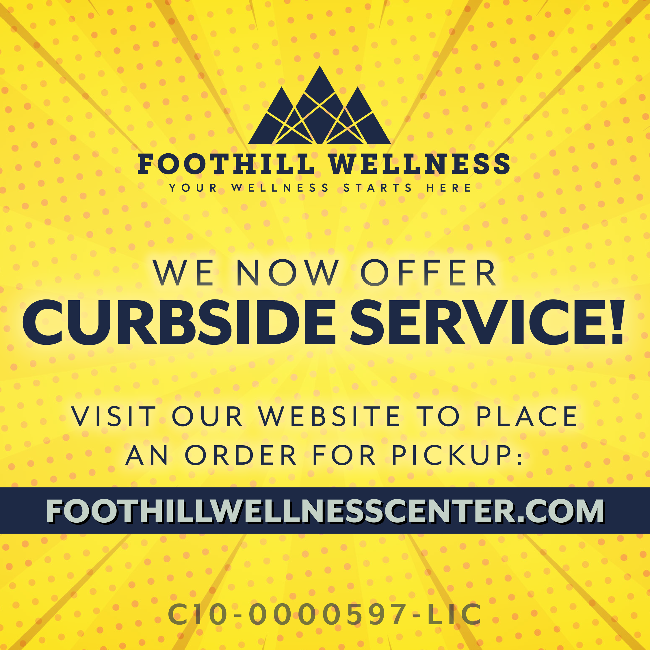 Foothill Curbside Service Available Flyer