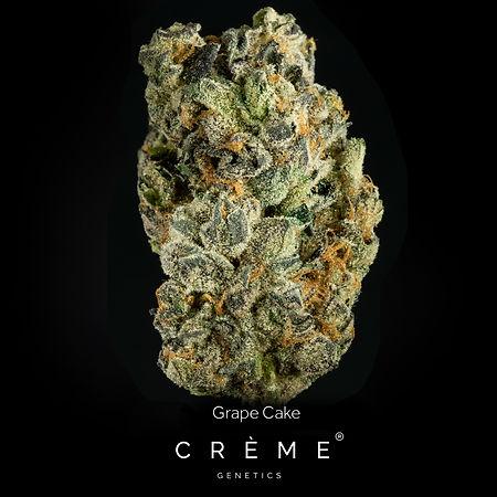Crème Grape Cake Flower