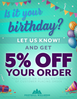 Foothill Birthday Discount Flyer