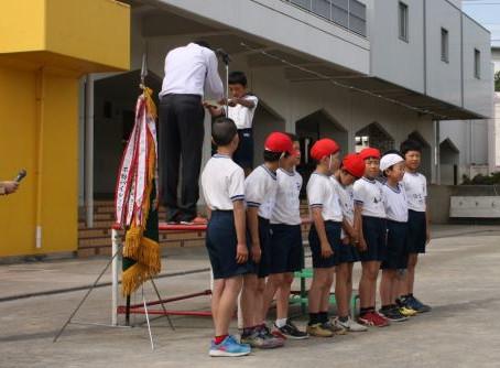 宮前小学校での表彰