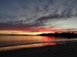 sunset at White Beach 13th June