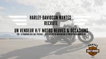 HARLEY-DAVIDSON NANTES RECRUTE UN VENDEUR H/F MOTOS NEUVES & OCCASION