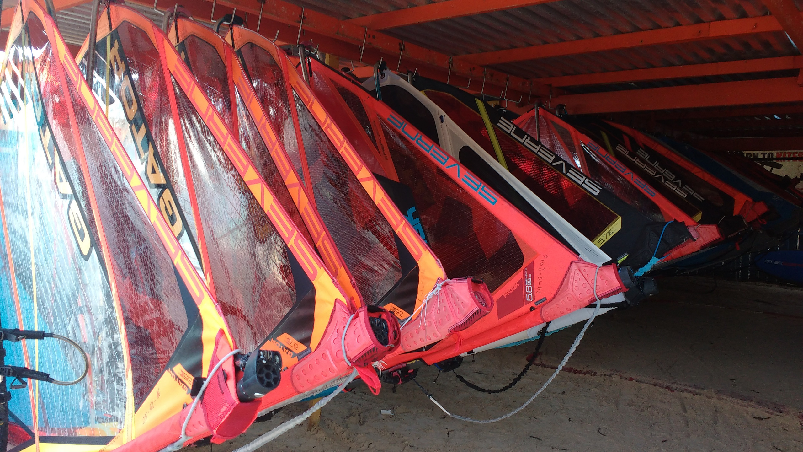 Riding with style on these Severne sails