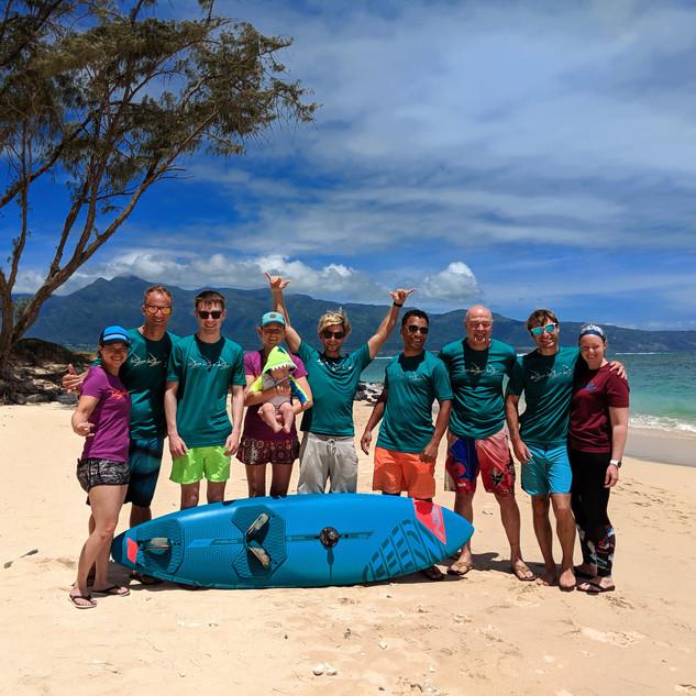 Group photo on Kanaha Beach 2019