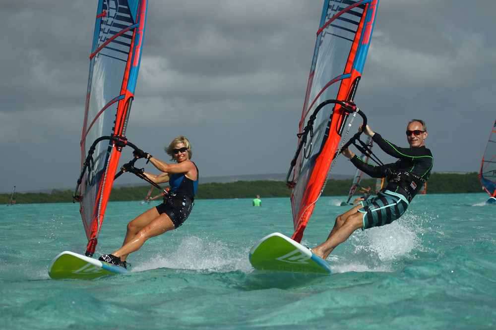 Up close to cut out the other windsurfers