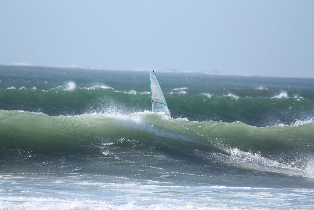 Too low and you can lose your windsurfer behind the waves