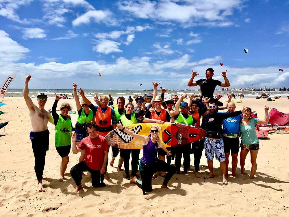 The third week GetWindsurfing team in Morocco