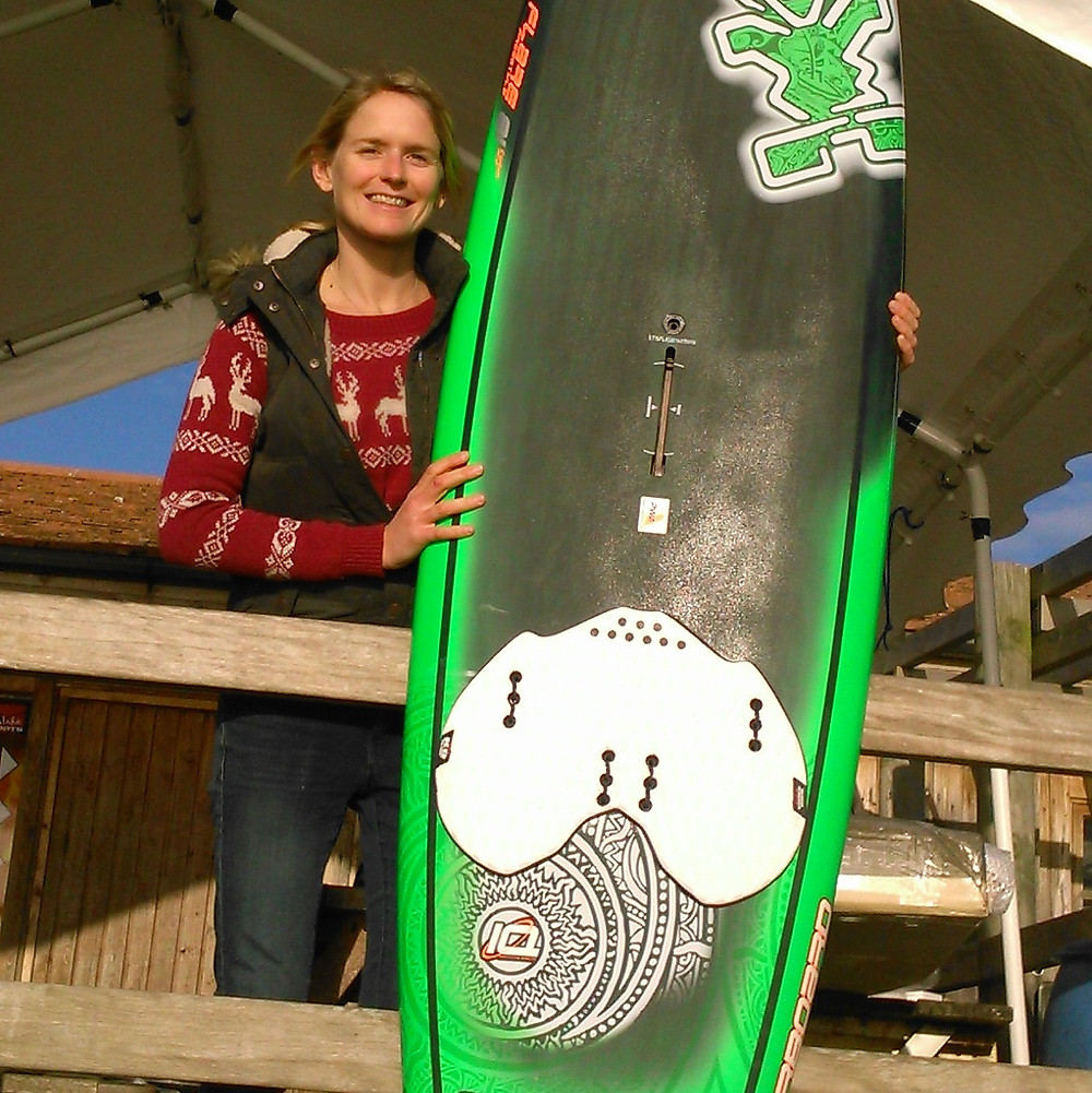 Danielle and her new freestyle board