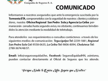 Información importante a nuestros asegurados de San Pedro Sula