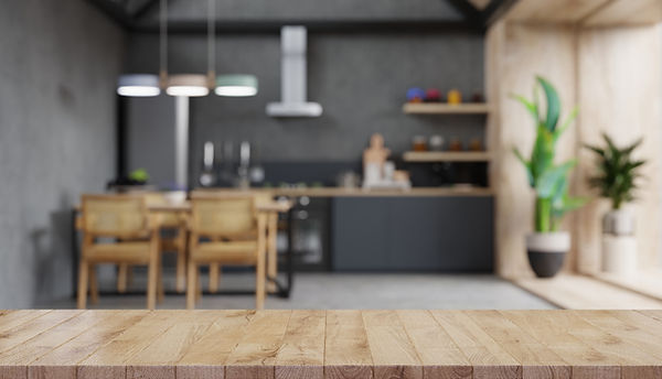 wood-table-top-on-blur-kitchen-counter-3