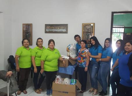 Comité de Género y Comité de Juventud Fe y Esperanza visita  Asilo María Eugenia Cruz Blanca