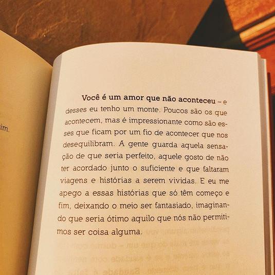 Do meu livro 'O que eu faço com a sauda