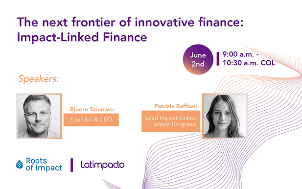 The Next Frontier of Innovative Finance: Impact-Linked Finance