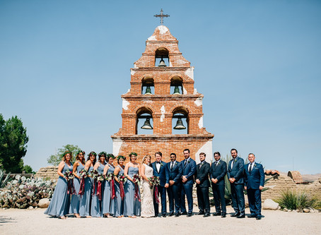 Vintage San Miguel Mission Wedding