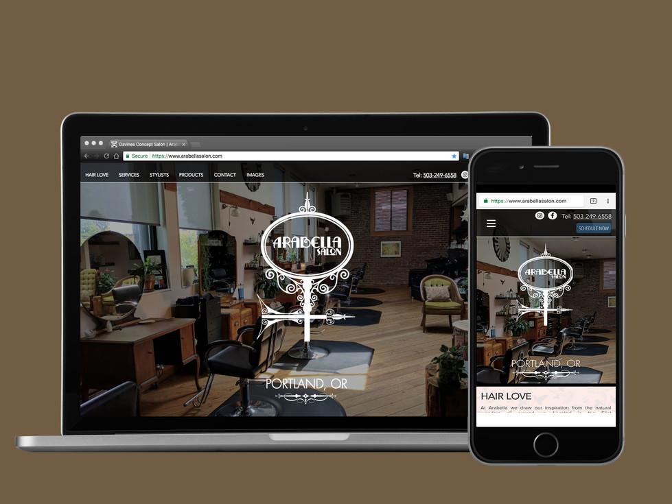 Website Design for Arabella Salon